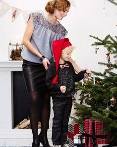 Juletøjet er naturligvis HOMEMADE  Lækker blød og silke, elegant og stilig tøj til sæsonens mange fester. Sy sweatshirt til de store drenge.  - stof2000.dk