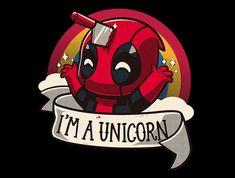 marvel deadpool Im A Unicorn t-shirt Deadpool Art, Deadpool Funny, Funny Marvel Memes, Marvel Jokes, Deadpool Chibi, Deadpool Tattoo, Deadpool Kawaii, Deadpool Quotes, Deadpool Pics