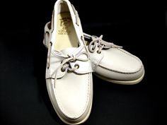 Sioux Mox Moccasin Boat Shoe Men's 8 M Color Bone Worn Once #SiouxMox #BoatShoes