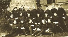 Army Staff College 1881. 2nd from left, front row, is Capt Baynes, 75th regiment who died in the Egyptian campaign of 1882 from dysentery. He also served in the Zulu War of 1879. The 75th was amalgamated with the 92nd to form the Gordon highlanders.