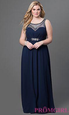 Sleeveless Floor Length Sydney's Closet Dress at PromGirl.com
