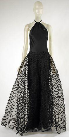 Dress Madeleine Vionnet  (French, Chilleurs-aux-Bois 1876–1975 Paris)  Date: 1938 Culture: French Medium: Silk. Front