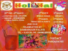 Holi Hai ! Make your #Holi day the most memorable at #Darbargadh Kadval. Visit : http://www.darbargadhkadval.com/