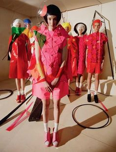 """""""Gravity's Rainbow"""" Junya Watanabe by Tim Walker for Dazed & Confused S/S 2015"""