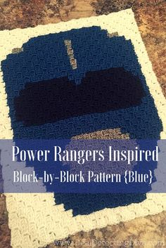 Have a Power Rangers fan in the house? You need to crochet this Power Rangers inspired corner-to-corner blanket! SIX blocks connected with top and bottom.