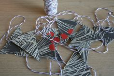 Mini Bunting Holiday Garland Pine Branches by PrinceAndThePapier, $4.50