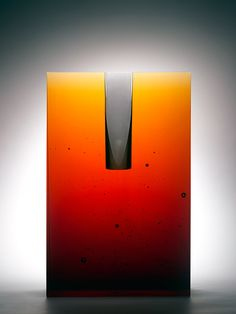 Once specializing in lost-wax casting of figurative glass art, Bruno Romanelli, London, now produces abstract forms. Both are sampled here. See Blogroll for a link. | Decanted