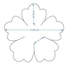 Flower Love five petal template by BAJ - A flower template for a five petal flower with heart shaped petals. Paper Flower Centerpieces, Paper Flowers Craft, Flower Crafts, Flower Decorations, Paper Crafts, Giant Paper Flowers, Felt Flowers, Diy Flowers, Fabric Flowers