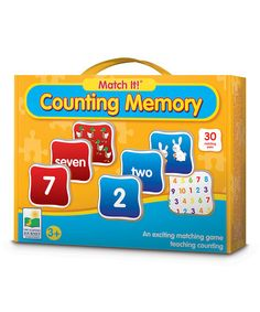 Take a look at this Counting Match It! Memory Game by The Learning Journey on #zulily today!