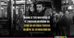 Best Lyrics Quotes, Best Song Lyrics, Cool Lyrics, Music Lyrics, Music Quotes, Famous Dialogues, Movie Dialogues, Bollywood Love Quotes, Bollywood Songs