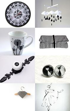 Black and white by Edyta on Etsy--Pinned with TreasuryPin.com