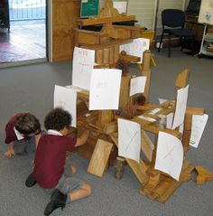 """Adding mark-making to Block Play - from Prepare to Play ("""",)"""