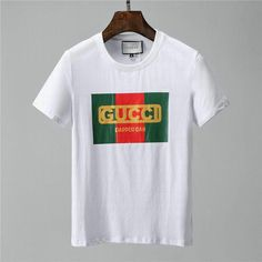 Wholesale Round Collar Short Sleeve Casual T Shirts Gucci T Shirt Mens, Cl Shoes, Gucci Brand, Designer High Heels, Sheepskin Boots, Casual T Shirts, Round Collar, Men's Fashion, Shirt Designs