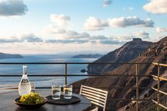 Porto Fira Suites, Santorini, Greece. 13 room resort each with their own veranda, envisioned by Interior Design Laboratorium