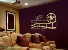 Welcome to Our Movie Room Sit Back Relax Enjoy Decal Vinyl Lettering Theatre Room Wall Art Graphics Lettering Decals Stickers 1080