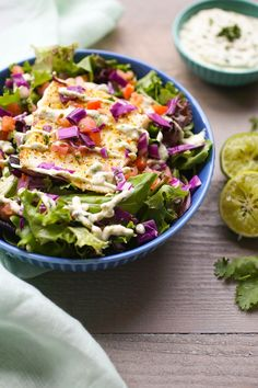 Grilled Halibut Salad with Avocado Aioli