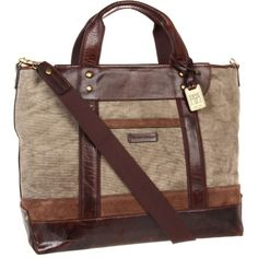 19c5c6c67 $398.00 Frye Harvey Tote (Fatigue Canvas/Antique Pull Up) Tote Handbags  Antigüedades,
