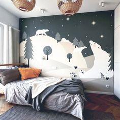 Little Hands Wallpaper – made by measure - Modern Kids Room Murals, Bedroom Murals, Kids Bedroom, Bedroom Decor, Wall Murals, Little Hands Wallpaper, Deco Kids, Kids Room Design, Room Wallpaper