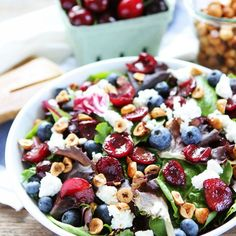 Grilled Cherry Salad- A fruity and flavorful salad perfect for summer.