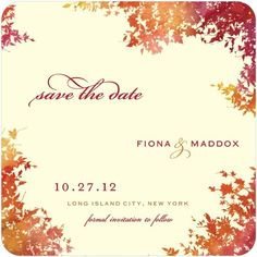 Signature Ecru Save the Date Cards - Dappled Glade by Wedding Paper Divas