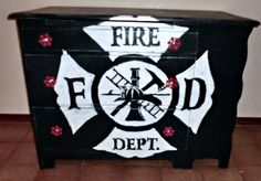 my husband, the fireman, would love this. maybe for his closet one day.