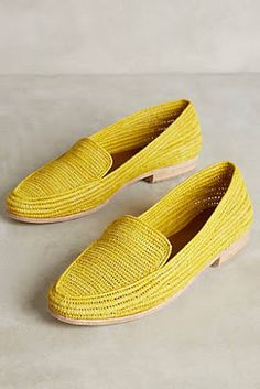 Discover unique women's flats, oxfords and slip-on shoes at Anthropologie, including the season's newest arrivals. Shoe Boots, Shoes Sandals, Shoes 2017, Dream Shoes, Mellow Yellow, Shoe Sale, Slip On Shoes, Knit Shoes, Womens Flats