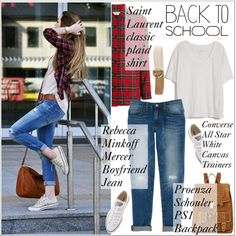 A fashion look from August 2015 featuring Fine Collection t-shirts, Yves Saint Laurent tops and Rebecca Minkoff jeans. Browse and shop related looks.