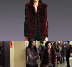 Aria sure knows how to make an outfit fun! *NOTE: 100% Turkey Feather    Haute Hippie - Marabou Vest - $695.00