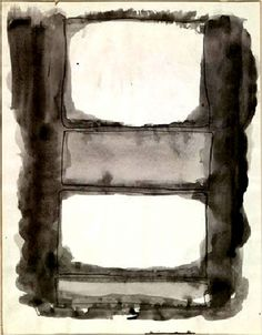 dailyrothko:Mark Rothko, watercolor, 1961