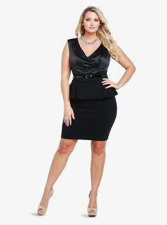 LOVE this Polka Dot Peplum Dress <3 <3 <3