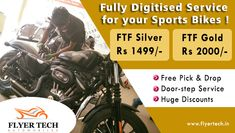 We are fully equipped with all the latest tool to give you the best possible #BikeService in Bengaluru !! Find us here :http://www.flyertech.in/ #BikeService #FlyerTech