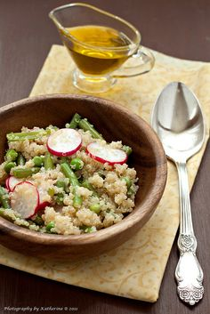 Love the blend of flavours and textures at work in this wonderful Radish, Bean, Pea and Quinoa Salad.