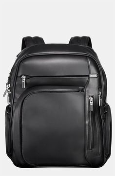 $695, Black Leather Backpack: Tumi Arrive Kingsford Leather Backpack Black One Size. Sold by Nordstrom.