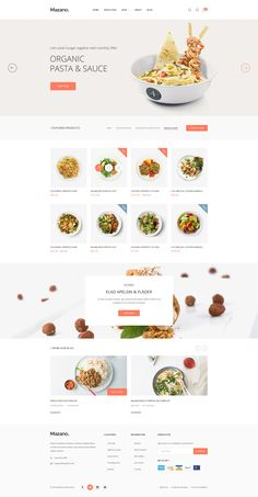 Buy Mazano - Multi-purpose PSD Template by PSDGirl on ThemeForest. Website Design Inspiration, Website Design Layout, Web Layout, Food Web Design, Menu Design, Presentation Design, Web Design Examples, Web Design Websites, Restaurant Website Design