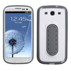 MYBAT Snap Tail Stand Protector Case for Samsung Galaxy S3 - White