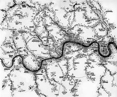 Rivers Of London: Amazing Hand-Drawn Map By Stephen Walter via Londonist