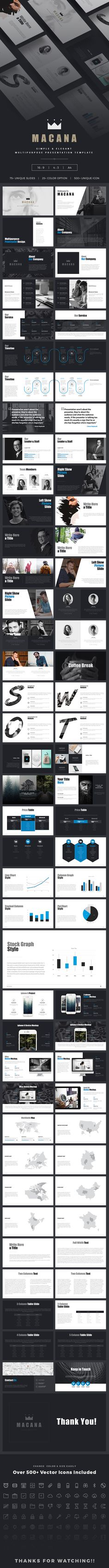 Macana Powerpoint Presentation Template #advertisement #infographics #marketing