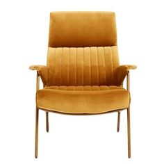 Køb Nordal IBEX lænestol med betræk i velour - sennep her. Stylish Chairs, Modern Chairs, Vintage Furniture, Home Furniture, Antique Dining Chairs, Most Comfortable Office Chair, High Back Chairs, Side Chairs, Couches