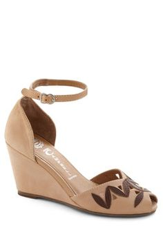 $52.99 Maple Colored Wedge, #ModCloth