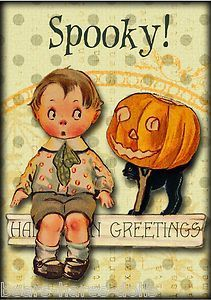 Halloween Note Cards With Vintage Costumed Children