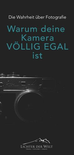 Warum deine Kamera völlig egal ist und du heute aufhören solltest, dir Gedanken über dein Equipment zu machen Instax Mini 9, Fujifilm Instax Mini, Show Me Photos, Karma Quotes, Big Picture, Picsart, Messages, Pictures, Location