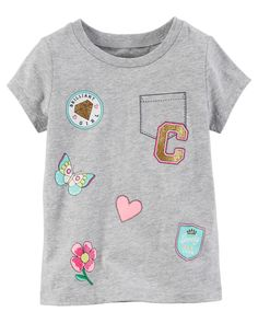 Baby Girl Faux Pocket Graphic Tee | Carters.com