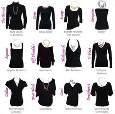 What necklace goes with what neckline Via