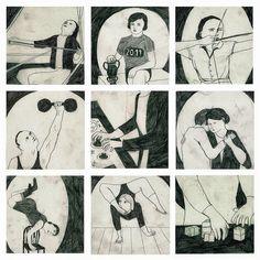 Martha Verschaffel, Ilustraciones para la revita Gonzo (circus), 2012