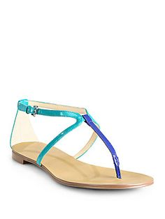 Boutique 9 Palanee T-Strap Flat Sandals on sale at Saks for $37.00