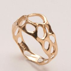 Bio E - 14k Gold Ring by Doron Merav