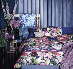 Spotted! Midnight Bloom - The Ana Mum Diary moody dark bedlinen, a real thrifty buy!