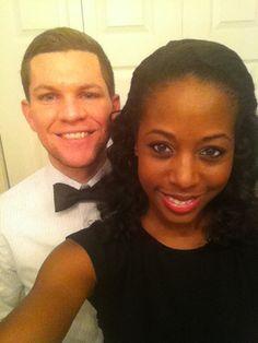 New Years Eve 2013. Tia & Gabe #interracialmarriage #bwwm #interraciallove #love