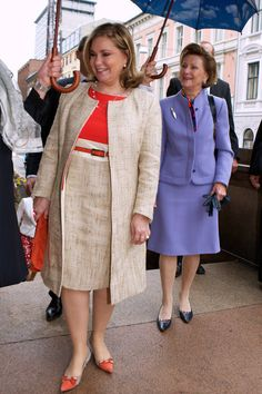 Grand Duchess Maria Teresa Of Luxembourg - Norwegian Royals Host State Visit From Luxembourg - Day 2