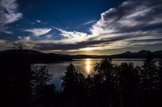 Beautiful Sandpoint, Idaho sunset from Al Seger